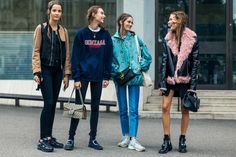 Fashion Week Street Style 2017 London 53 Ideas For 2019 Printemps Street Style, New Street Style, Model Street Style, Spring Street Style, Suit Fashion, Fashion Week, Fasion, Winter Fashion, Ladies Of London