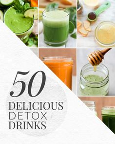 50 Delicious Detox Drinks #detox #drinks #recipes
