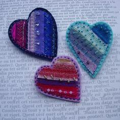 Silk Heart brooches | Flickr - Photo Sharing!