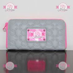Cartera Loungefly Color Gris/Rosa Hello Kitty