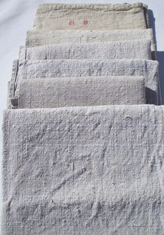 european linen FRENCH LINEN hand loomed linen cloth FRENCH kitchen cloth. $18.00, via Etsy.