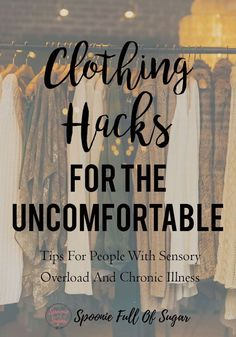 Clothing Hacks For The Uncomfortable Are you always uncomfortable in your clothes? Look here for simple tips for how to care for, hack, and adjust your clothes for maximum comfort! Chronic Fatigue Syndrome, Chronic Illness, Chronic Pain, Ankylosing Spondylitis, Hypermobility, Migraine Relief, Pain Relief, Tension Headache, Fibromyalgia
