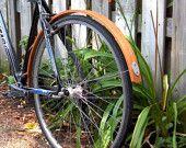 Rear Wood Bike Fender  Nice!