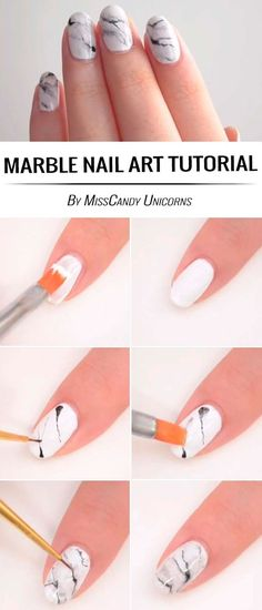 Awesome Easy DIY Nail Art Ideas For Beginner – nailart Nail Designs Easy Diy, Flower Nail Designs, Trendy Nail Art, Nail Art Diy, Sally Hansen, Unicorn Nails Designs, New Nail Art Design, Nail Art For Beginners, Beginner Nail Art