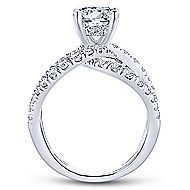 Lola 14k White Gold Round Split Shank Engagement Ring angle 2