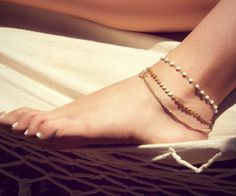 @Makiea Montgomery good one!!  BETSY ANKLET triple chain anklet by LovMely on Etsy, $20.00