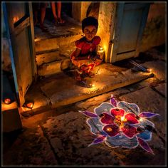India - Diwali decoration and lights Zen Space, Om Shanti Om, Hindu Festivals, Indian Festivals, Namaste, Indian People, India Culture, India Colors, Madurai