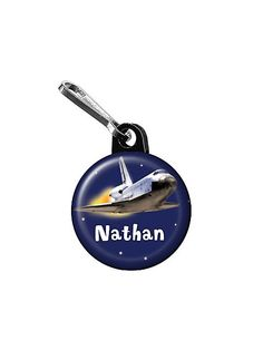 Outer Space Personalized Mini Zipper Pull