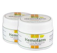 Hemofarm - Tratament hemoroizi interni si externi. Fisuri anale. Coconut Oil, Jar, Plant, Jars, Glass