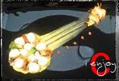 Gnocchetti in guazzetto su crema di piselli con gallinella marinata pomodori confit e chips di carciofo