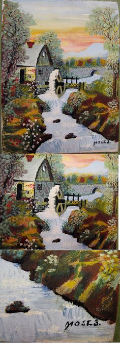 "A very rare and early Grandma Moses oil on panel. 9"" x 7"" in immaculate original condition"