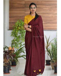 Cotton Saree Blouse Designs, Fancy Blouse Designs, Dress Designs, Formal Saree, Formal Dress, Stylish Blouse Design, Saree Trends, Stylish Sarees, Saree Models