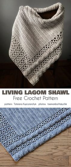 Free Chunky Crochet Patterns for the Winter Living Lagom Shawl. Free Chunky Crochet Patterns for the Winter Living Lagom Shawl Free Crochet Pattern The living lagom s. One Skein Crochet, Crochet Shawl Free, Crochet Wrap Pattern, Crochet Shawls And Wraps, Chunky Crochet, Crochet Scarves, Easy Crochet, Crochet Flower Scarf, Granny Pattern