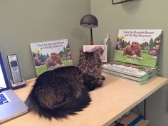 Rudy, the supervisor, overseeing Clark the Mountain Beaver and His Big Adventure book project!