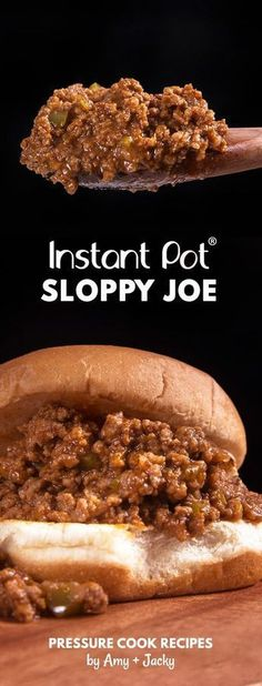 instant pot recipes easy Make Family Favorite Instant Pot Sloppy Joes Recipe (Pressure Cooker Sloppy Joes). Sweet-savory, umami homemade sloppy joe is gratifying to eat. Kid-friendly and super easy to make! Homemade Sloppy Joes, Easy Sloppy Joes, Instant Pot Dinner Recipes, Best Instant Pot Recipe, Instant Pot Pressure Cooker, Pressure Cooker Recipes Beef, Power Pressure Cooker, Slower Cooker, Pressure Pot