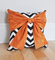 Halloween Pillow Orange Black and White Pillows by bedbuggs Bow Pillows, Black And White Pillows, Halloween Scrapbook, Halloween Pillows, Halloween Sale, Pillow Design, Accent Pieces, Color Schemes, Pillow Covers