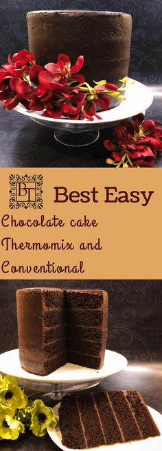 Easy Chocolate Cake - Thermomix and Conventional recipes – Bec's Table Thermomix Chocolate Cake, Those Recipe, Top Recipes, Vegetarian Chocolate, International Recipes, Sour Cream, Cocoa, Favorite Recipes, Posts