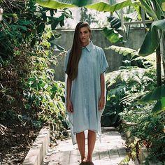 vast shirt-dress - light denim