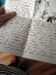 Getting a handwritten letter from a friend or relative.