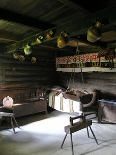 Interior of a traditional rural house, Romania Traditional Interior, Traditional House, Romania People, Rural House, European City Breaks, Village Houses, Scandinavian Interior, Old Houses, Home Interior Design