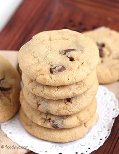 This Eggless Chocolate Chip Cookie Recipe Explains How To Make Chocolate Chip Cookies Without Egg With Step By Step Photos.