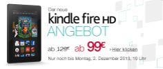 Nur für kurze Zeit – Amazon Sonderangebot: Neuer Kindle Fire HD für nur 99 Euro! - http://www.paulschreibt.de/nur-fuer-kurze-zeit-amazon-sonderangebot-neuer-kindle-fire-hd-fuer-nur-99-euro/