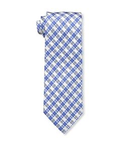 Tom Ford Men's Plaid Tie, Blue