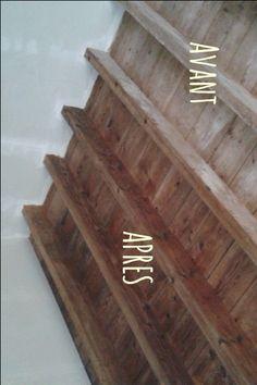 Rénovation écologique : traitement et protection du bois. Pas besoin de lazure, vous pouvez réaliser une peinture écologique pour le bois à moindre frais ! Wood, Home Decor, Tips And Tricks, Cement Render, Fresh, Bass, Trier, Decoration Home, Woodwind Instrument