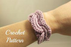 Thursday Handmade Love week 73 Theme: Bracelets - Crochet Addict UK Crochet PATTERN PDF Crochet Bracelet Infinity Link Cuff, Crochet Bracelet, Crochet Cuff Pattern, Crochet Jewelry Pattern