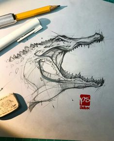 Psdelux is a pencil sketch artist based in Tatabánya, Hungary. He usually draws animal sketches. Psdelux also makes digital drawings. Animal Sketches, Art Drawings Sketches, Cool Drawings, Pencil Drawings, Pencil Sketching, Realistic Drawings, Drawing Faces, Art Illustrations, Sketch Painting