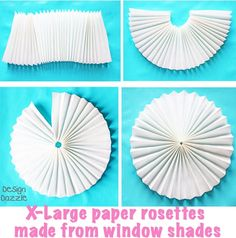 How To Make a Party Backdrop With Paper Window Shades Party