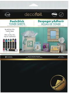 Therm O Web PEELNSTICK TONER SHEETS Deco Foil Heat Activated Transfer iCraft 03376 zoom image