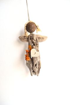 Angel from the ocean decorated with real Baltic Sea by Grazim, $15.00