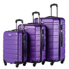 Coolife Luggage 3 Piece Set Spinner Trolley Suitcase Hard Shell Lightweight Carried On Trunk Buy Luggage, Luggage Sets, Travel Luggage, Suitcase Set, College Bags, Old Suitcases, Thing 1, Luggage Accessories, Weekend Trips