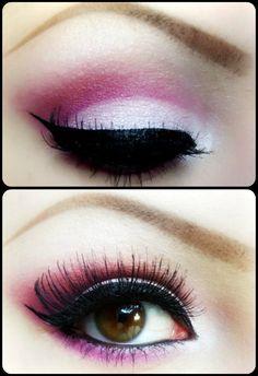 Pink and white make up
