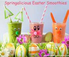 Happy Easter bunny spring smoothie kids drink www.buildmyart.com