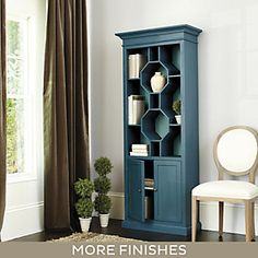Octavia Bookcase For Dining Room Hardwood Furniture Door Storage