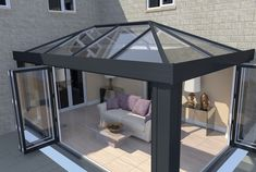 Find an Ultrasky roof and create a lantern roof or orangery roof that meets your design needs. Look at our lantern conservatory roof pictures for inspiration. Modern Conservatory, Conservatory Roof, Conservatory Extension, Orangery Extension Kitchen, Garden Room Extensions, House Extensions, Orangerie Extension, Orangery Roof, House Extension Design