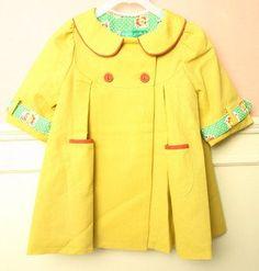 yellow coat - (make cute dress too)  #Lollipop Coats