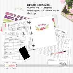 2017 LDS Young Women Theme Editable Calendar and Planner Bundle by LDSPrintable