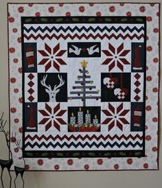 "Nordic Christmas Quilt, 57 x 64"", pattern by Gudrun Erla as seen at Craftsy"