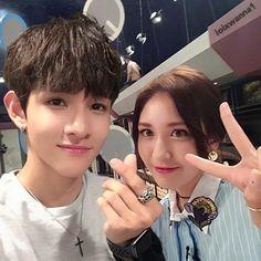 Jeon somi and Kim Samuel
