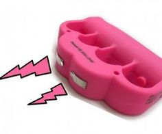 Pink Brass Knuckle Taser Blast Knuckle Stun Gun