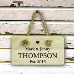 Personalised Wooden Sign - Establised Couples