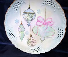 Hand Painted Porcelain Plate Ceramic Plate  by PorcelainChinaArt