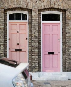 Cute pastels against natural brickwork