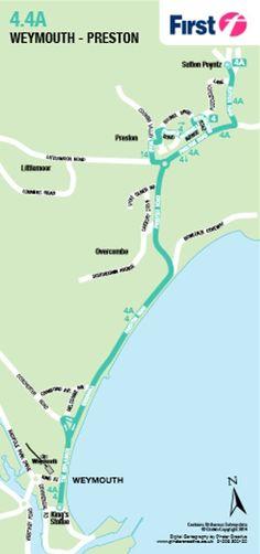Dorset Bus Guide.  Page 26: 4a Sutton Poyntz-Weymouth.