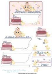 Baby In Bath (girl)
