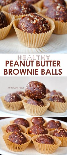 Peanut Butter Brownie Balls - FitFoodieFinds.com