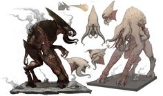 ArtStation - Monsters, Nick De Spain #beast #creature #character